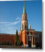 Nikolskaya - St. Nicholas - Tower Of The Kremlin - Square Metal Print