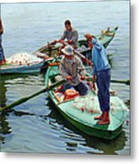 Nile River Fishermen  Metal Print