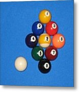 Nine Ball Rack. Metal Print