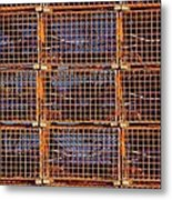 Nine Orange Lobster Traps Metal Print by Stuart Litoff