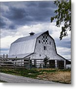 Nine Patch Quilt Barn Metal Print