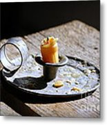 Nineteenth Century Candle And Holder Metal Print