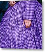 Ninetenth Century Woman In Purple Metal Print