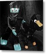Ninja Gumby And Ninja Pokey Too Metal Print