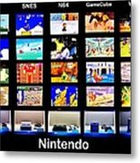 Nintendo History Metal Print by Benjamin Yeager