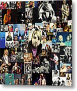 Nirvana Collage Metal Print by Taylan Apukovska