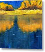 Nisqually Reflection Metal Print by Nancy Merkle
