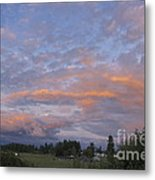 Nisqually Valley Sunset Metal Print