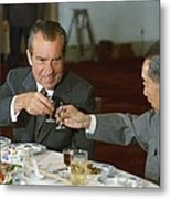 Nixon In China. President Richard Nixon Metal Print