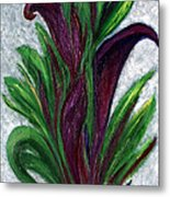 No. 028 Purple Callas Metal Print