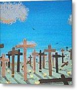 No Cross No Crown 2 Metal Print