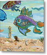 No Fishing Metal Print by Brenda Ruark