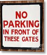 No Parking Vintage Sign Metal Print