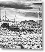 No Place Like Home Bw Palm Springs Desert Hot Springs Metal Print