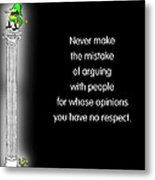 No Respect Metal Print by Mike Flynn