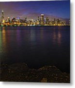 No Swimming To The City Metal Print