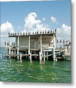 No Vacancy At The Stilt House Metal Print