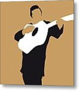 No010 My Johnny Cash Minimal Music Poster Metal Print