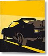No051 My Mad Max 2 Road Warrior Minimal Movie Poster Metal Print