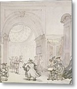 No.0613 The West Room And The Dome Room Metal Print