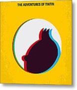 No096 My Tintin-3d Minimal Movie Poster Metal Print