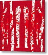 No114 My Machete Minimal Movie Poster Metal Print