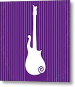 No124 My Purple Rain Minimal Movie Poster Metal Print