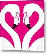 No142 My Pink Flamingos Minimal Movie Poster Metal Print by Chungkong Art