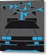No183 My Back to the Future minimal movie poster-part II Metal Print