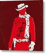 No184 My Django Unchained Minimal Movie Poster Metal Print