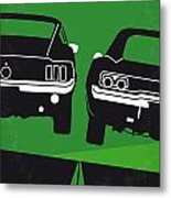 No214 My Bullitt Minimal Movie Poster Metal Print