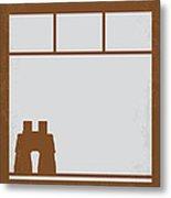 No238 My Rear Window Minimal Movie Poster Metal Print by Chungkong Art
