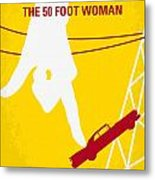 No276 My Attack Of The 50 Foot Woman Minimal Movie Poster Metal Print