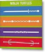 No346 My Teenage Mutant Ninja Turtles Minimal Movie Poster Metal Print