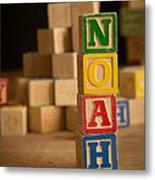 Noah - Alphabet Blocks Metal Print