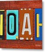Noah License Plate Name Sign Fun Kid Room Decor. Metal Print