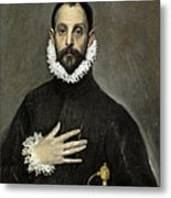 Nobleman With His Hand On His Chest Metal Print