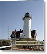Nobska Lighthouse On Cape Cod At Woods Hole Massachusetts Metal Print