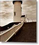 Nobska Lighthouse Metal Print by Skip Willits