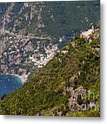 Nocelle Above Postitano Metal Print