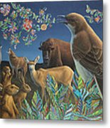 Nocturnal Cantata Metal Print by James W Johnson