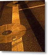 Nocturnal Street Shadows Metal Print