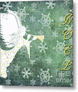 Noel Christmas Card Metal Print