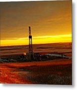 Nomac Drilling Keene North Dakota Metal Print