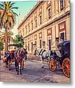 Noon At Cathedral Square. Seville Metal Print