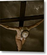 Nordic Crucifix Metal Print