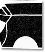 Nordic Symbol Anvil Metal Print