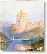 Norham Castle An Illustration To Marmion By Sir Walter Scott Metal Print