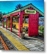 Norm Laknes Train Station Metal Print