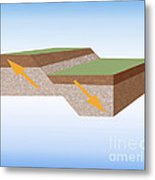 Normal Fault Created By Earthquake Metal Print